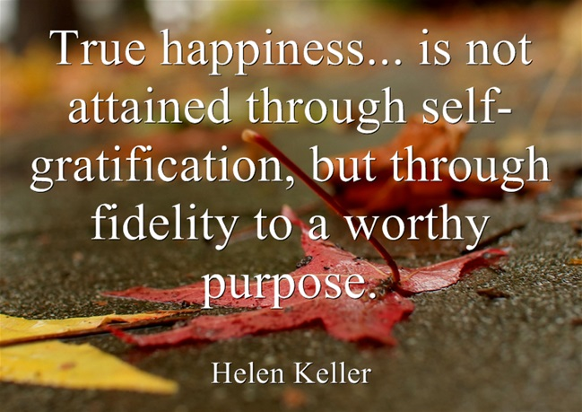 Helen Keller Purpose Quote
